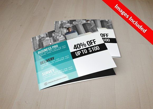 Business Square Trifold Brochure Brochures and Brochure template - flyers and brochures templates