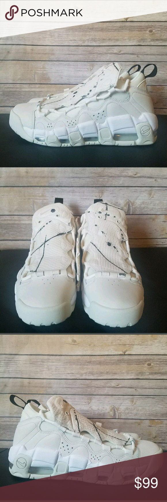 hot sale online 87533 a3350 Nike Air More Money White Sneakers Women s 10 NIKE AIR