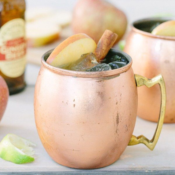 The first official day of fall is Wednesday! And although it still feels like summer sipping an apple cider Moscow mule helps bring fall home! Recipe on #sugarandcharm by sugarandcharm