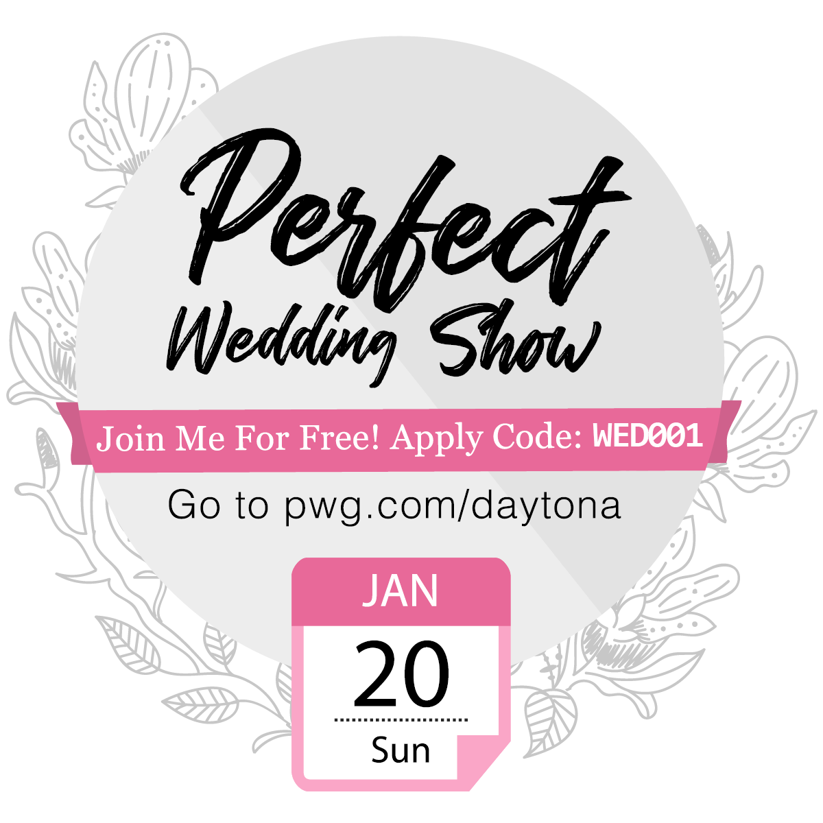 Need Tickets For The Daytona Beach Perfect Wedding Guide Show On January 20th Here S Your Code Be Sure T Perfect Wedding Guide Romance Travel Honeymoon Wish
