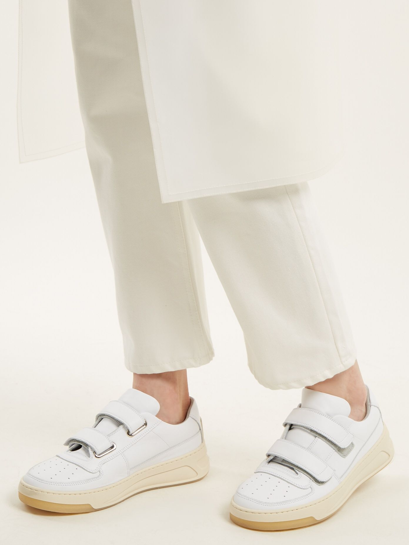 9ce90320e4d9 Click here to buy Acne Studios Steffey low-top Velcro-strap leather  trainers at MATCHESFASHION.COM