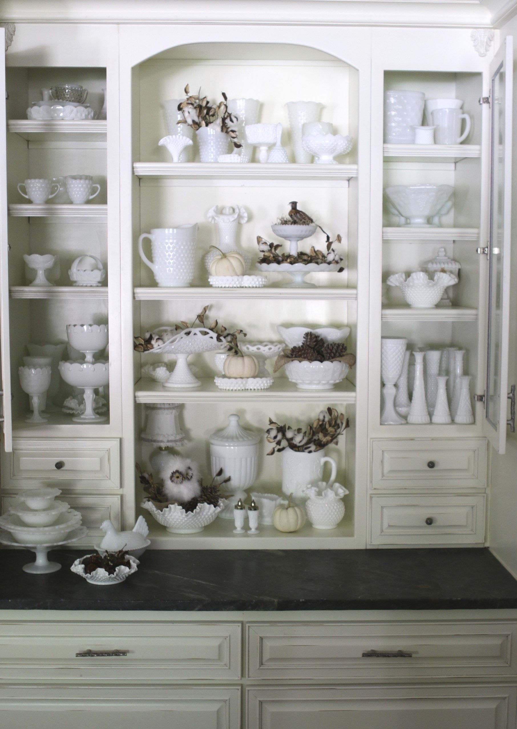 Milk glass collection I love it …