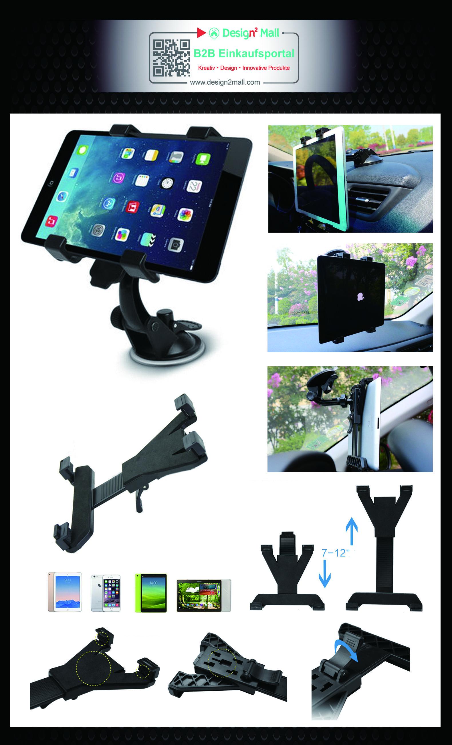 Adjustable Car Headrest Tablet PC Support Holder Clip