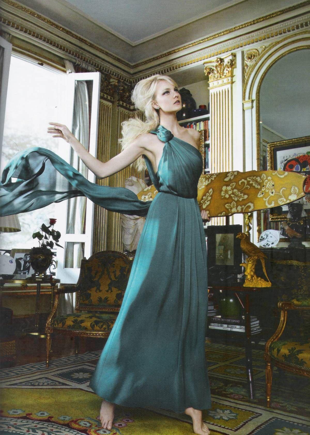 Caroline Trentini in Carolina Herrera photographed by Gui Paganini for Harper's Bazaar Brazil, December 2011.