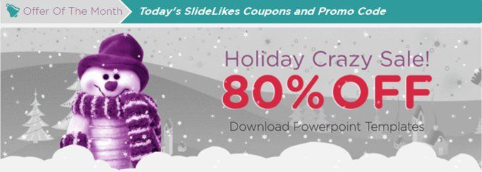 Slidelikes holiday crazy offer 80 off on download powerpoint - winter powerpoint template