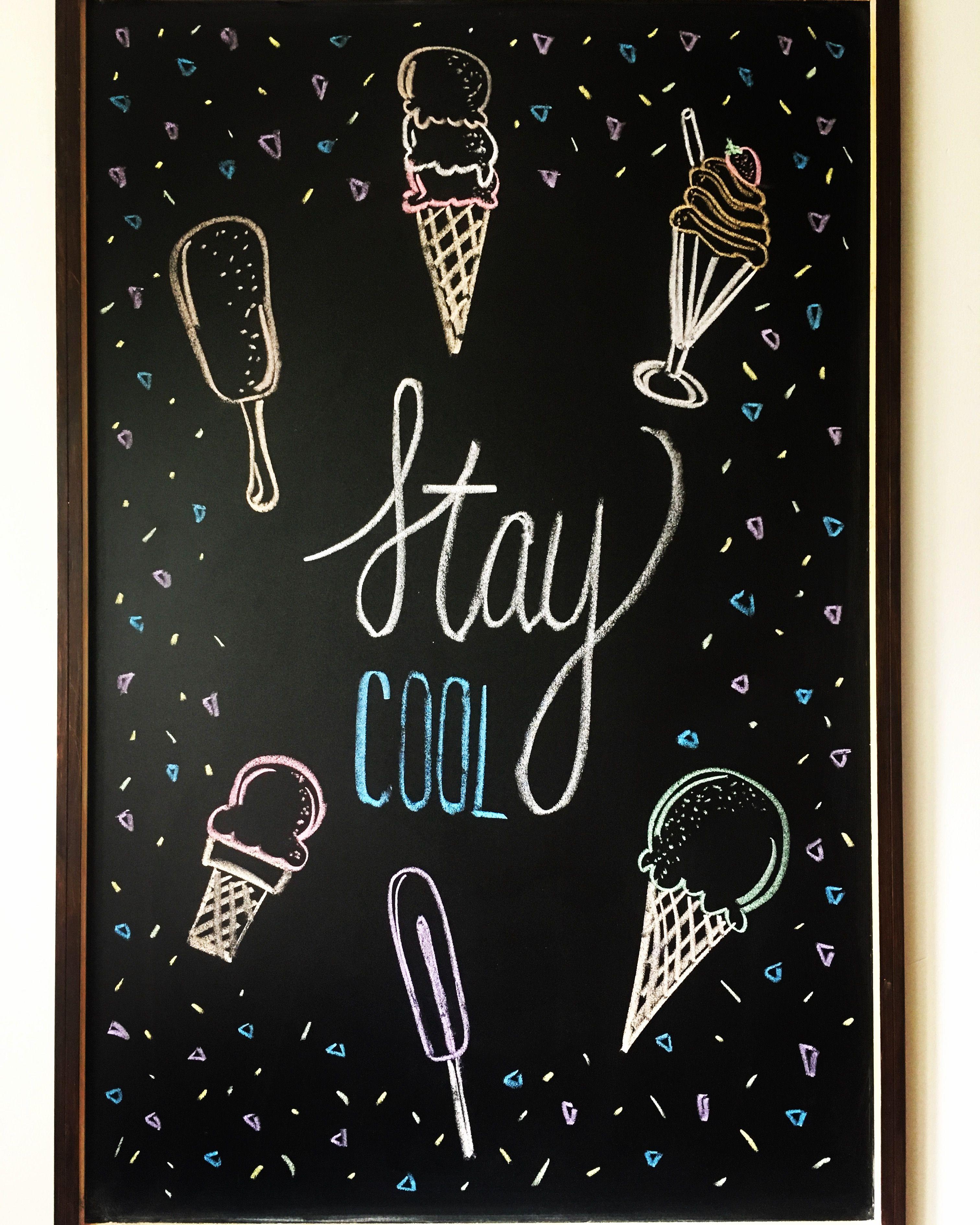 Blackboard Artwork Ideas: #summer #chalkboard #art #diy