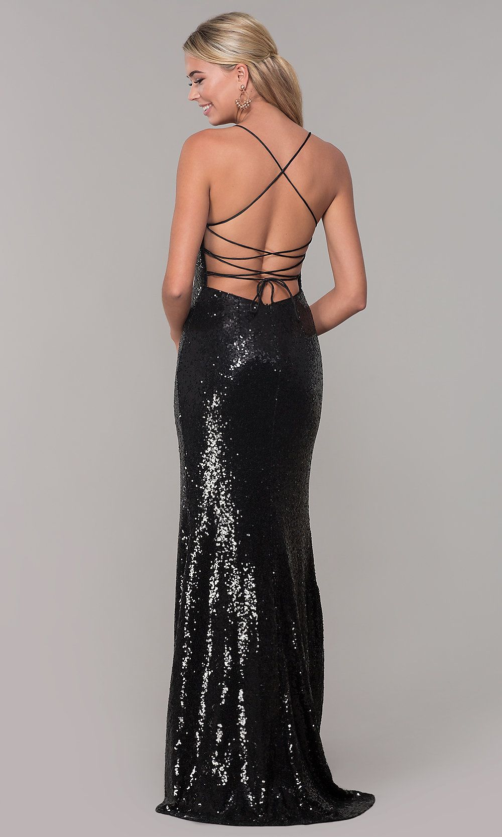 Corset-Back Cheap Lace Formal Prom Dress - PromGirl