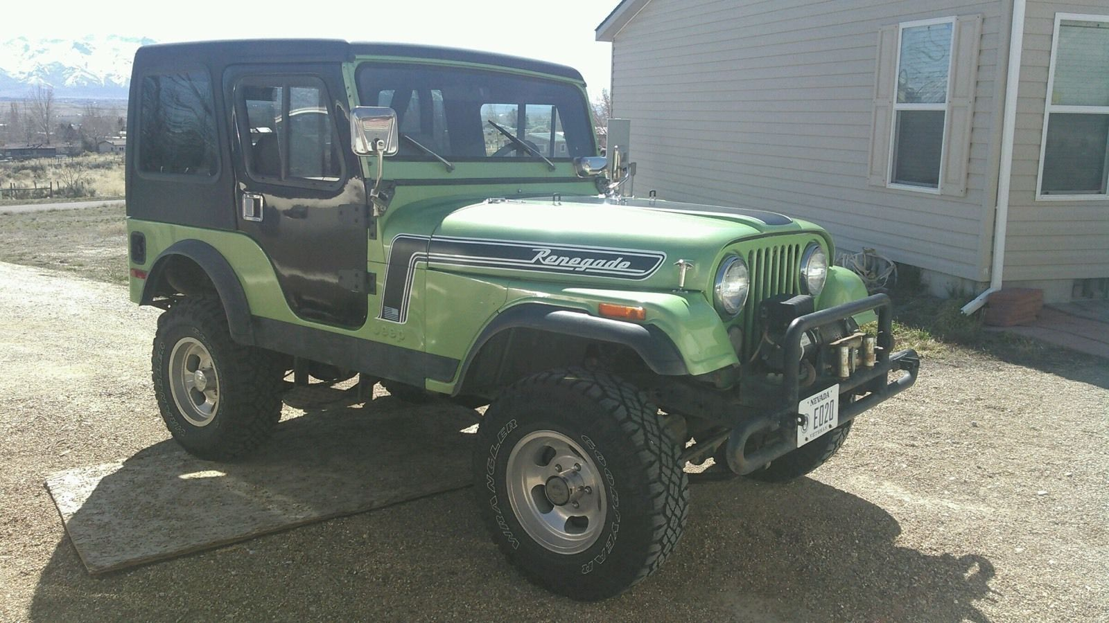 Jeep Cj5 Hard Top And Two Doors With Glass Windows