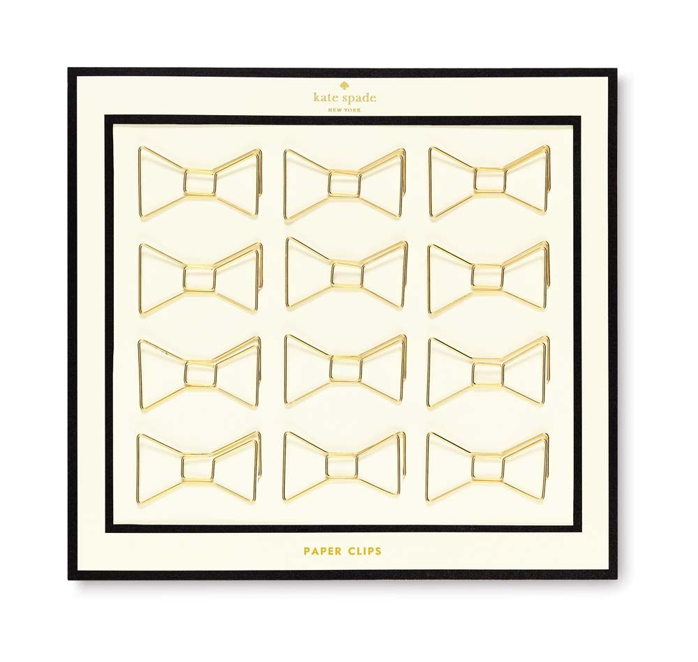 Kate Spade - Gold Bow Paper Clips