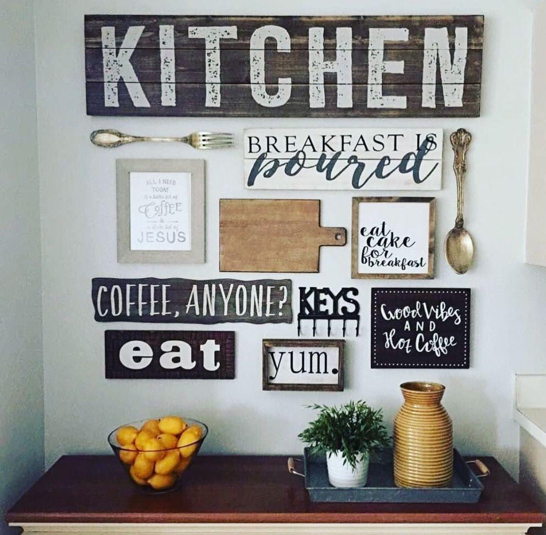 Up Next Kitchen Decor Kitchen Gallery Wall Diy Home Decor