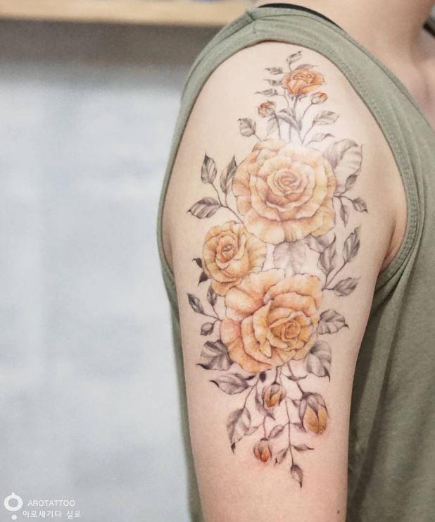 Yellow rose tattoo rose tattoos pinterest tattoos rose yellow rose tattoo mightylinksfo
