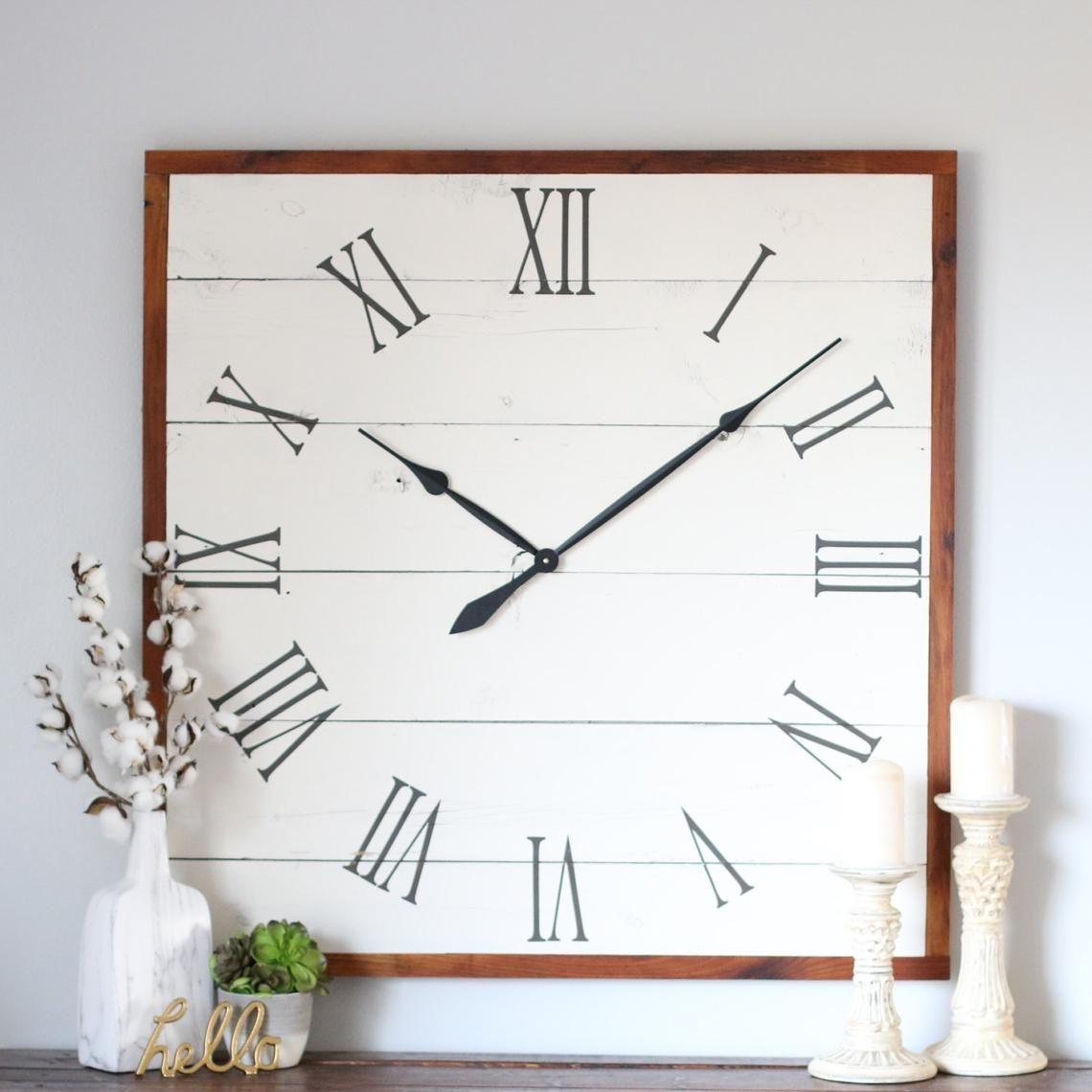 36 square emma vintage wall clock square white clock