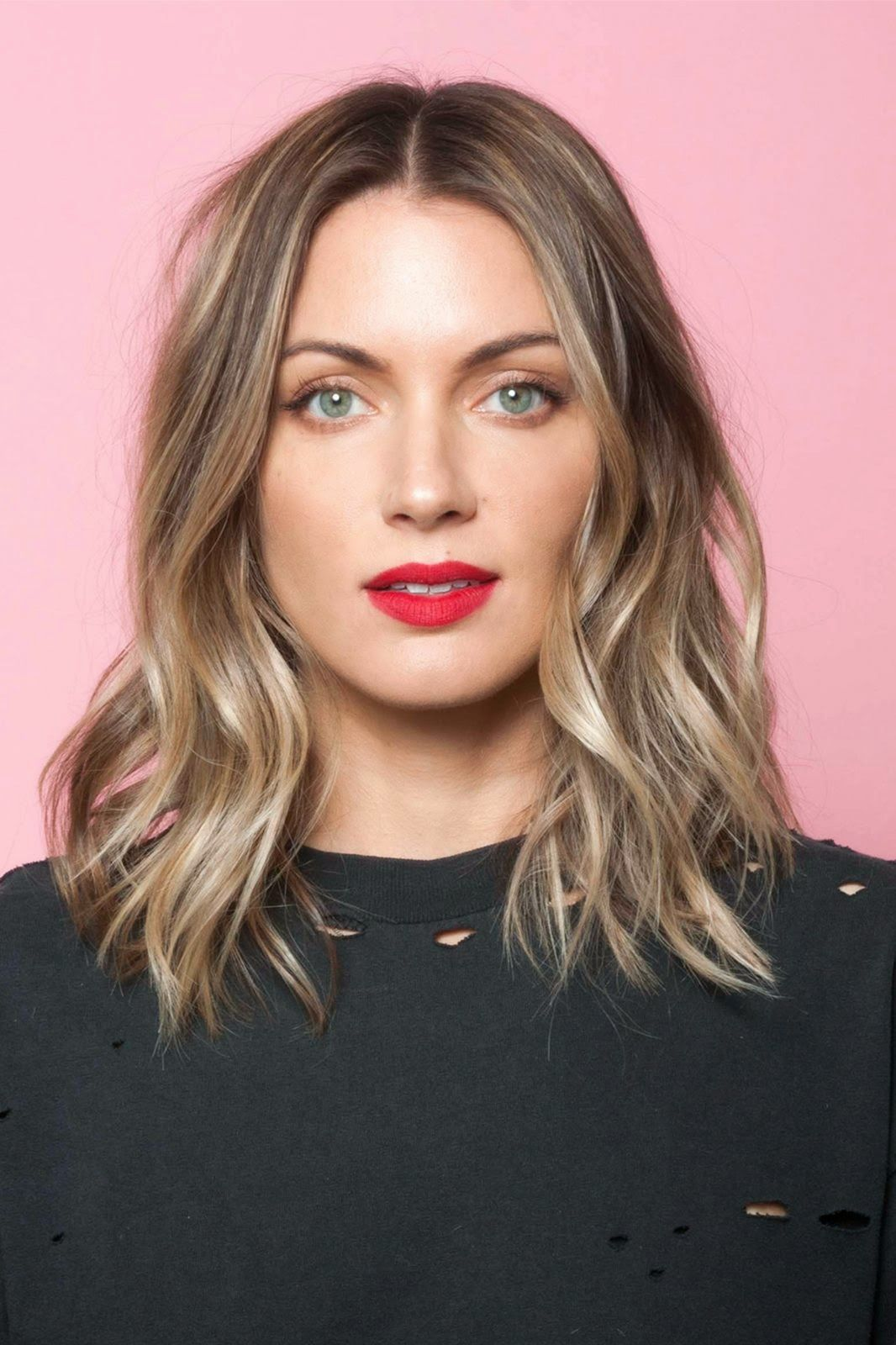 Brunette Hairstyles Harlyn Sage The Lob #lob #bob #ombre #blonde #brunette #hairstyle