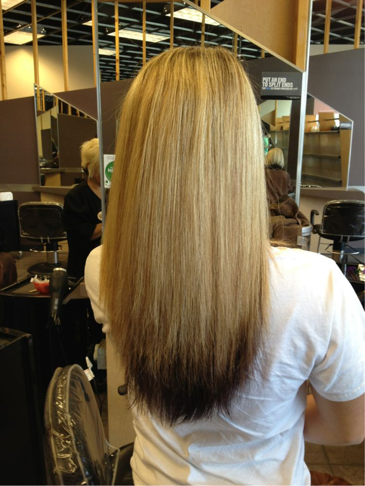 blonde hair with dark brown tips hair done pinterest