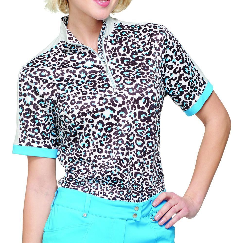 Gg Blue Serengeti Sparkles Gwen Polo Mens Tops Men Casual Golf Fashion