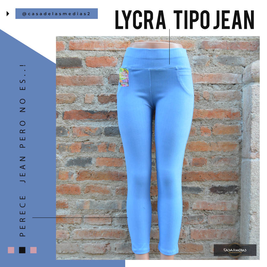 Licra Tipo Jeans De Mujer Super Strech Grueso De Cintura Tiene Costuras Amarillas Simulando Al Jean Comodidad Total Casadelasm Skinny Jeans Lycra Fashion