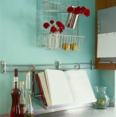 I definitely need help.  My kitchen is running into my den!  http://glutenfreehomemaker.com/2012/02/kitchen-organization-tips/