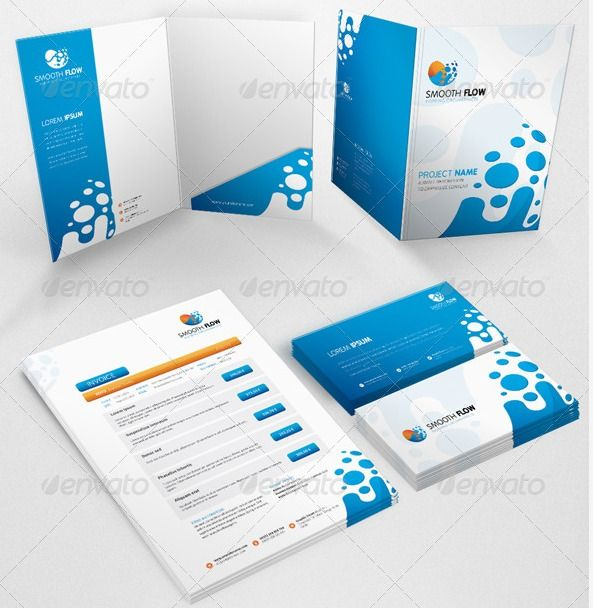 presentation folder template smooth flow graphic river | corporate, Presentation templates