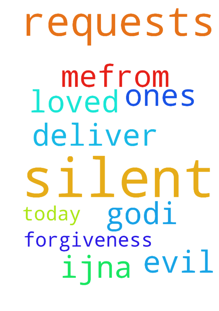 I have silent requests, please pray -  God,I pray silent requests. Deliver my loved ones amp; mefrom evil today. Thank You amp; for forgiveness. ijna  Posted at: https://prayerrequest.com/t/trW #pray #prayer #request #prayerrequest