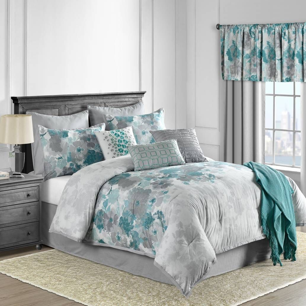 Product Image For Claire 10 Piece Comforter Set In Teal Teal
