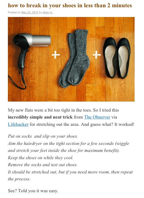Pin By Sarah Henderson On Useful Tips Breaking In Shoes How To Stretch Shoes Life Hacks Every Girl Should Know