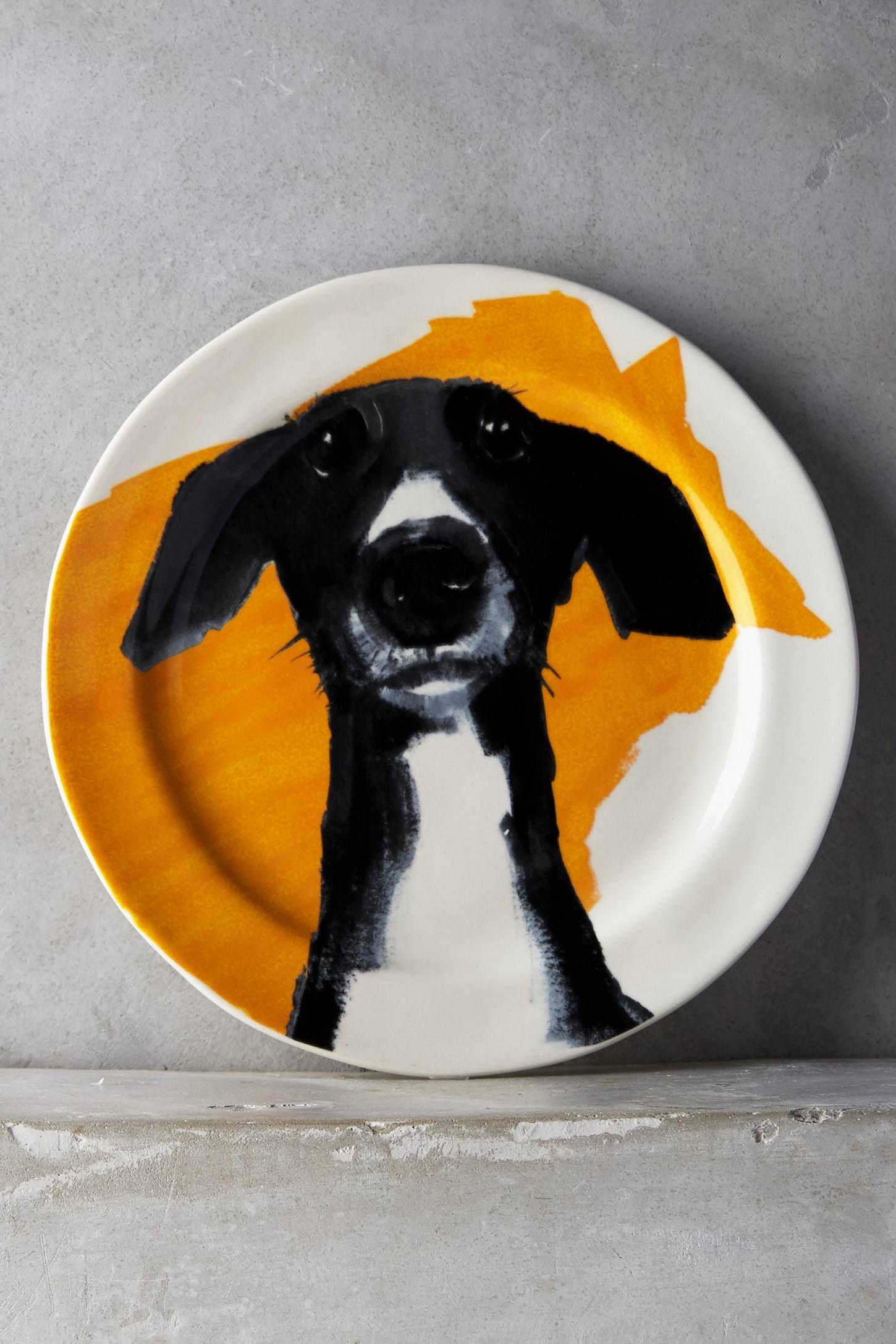 Sally Muir DogaDay Dessert Plate Dog artist, Plates