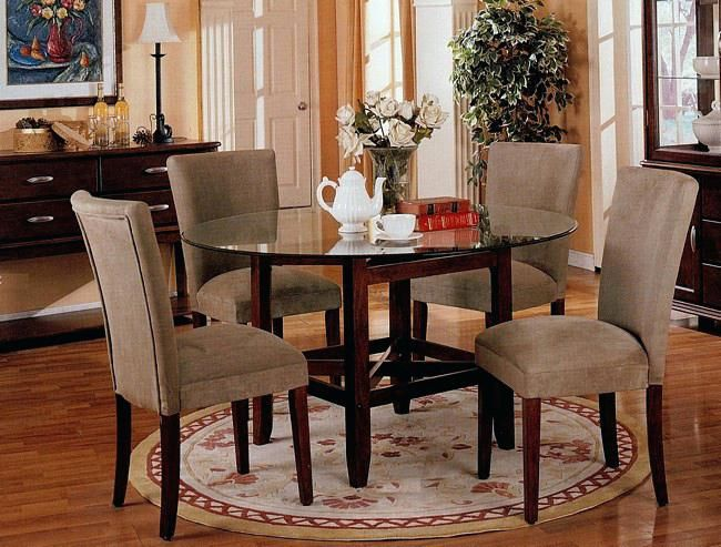 Fancy Dining Table Set Large Round Glass Dining Room Table ...