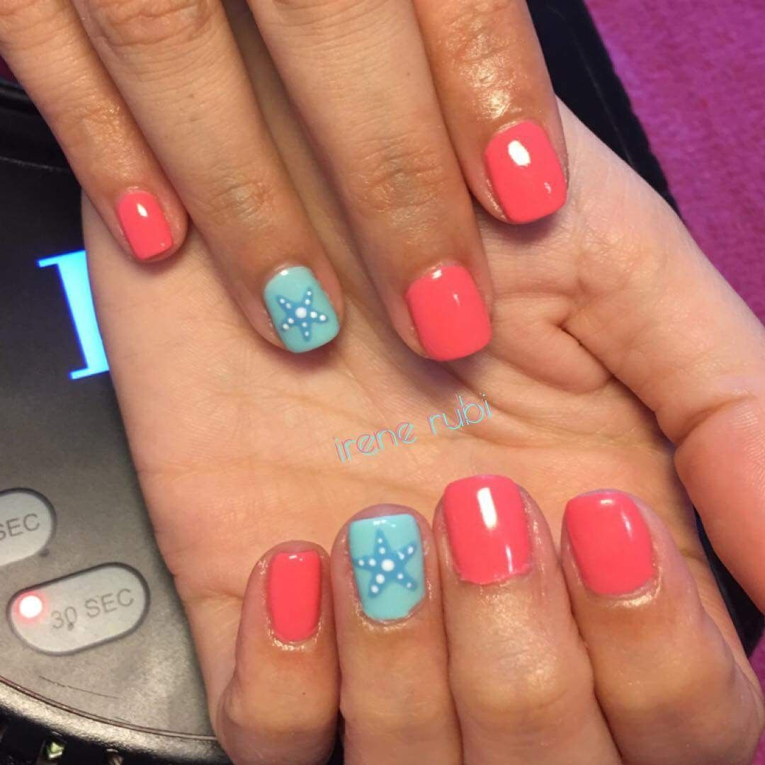 Beautiful starfish nail design! - Beautiful Starfish Nail Design! Nails... Pinterest Starfish