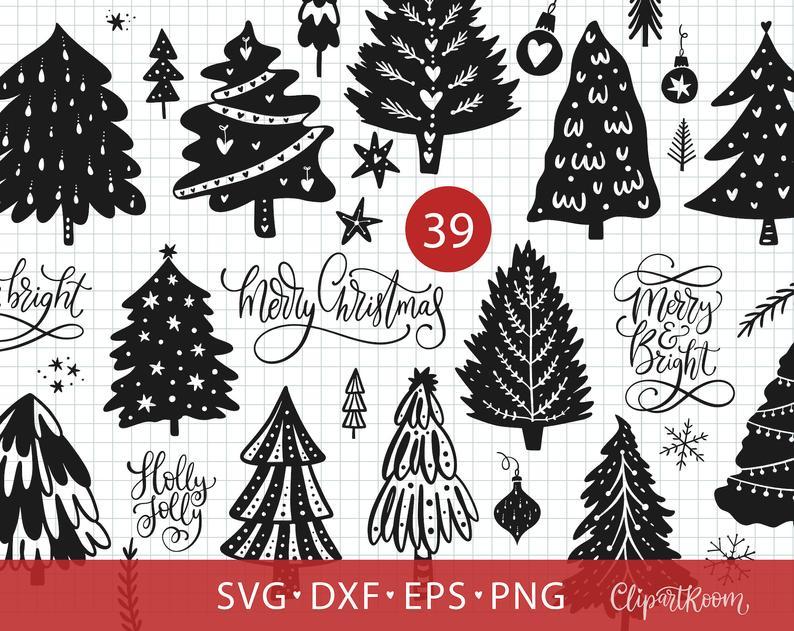 Christmas Tree Svg Christmas Clip Art Merry Christmas Stencil Etsy In 2020 Christmas Stencils Tree Svg Christmas Clipart