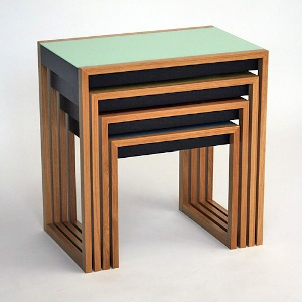 Modern History Bauhaus Nesting Tables Bauhaus furniture
