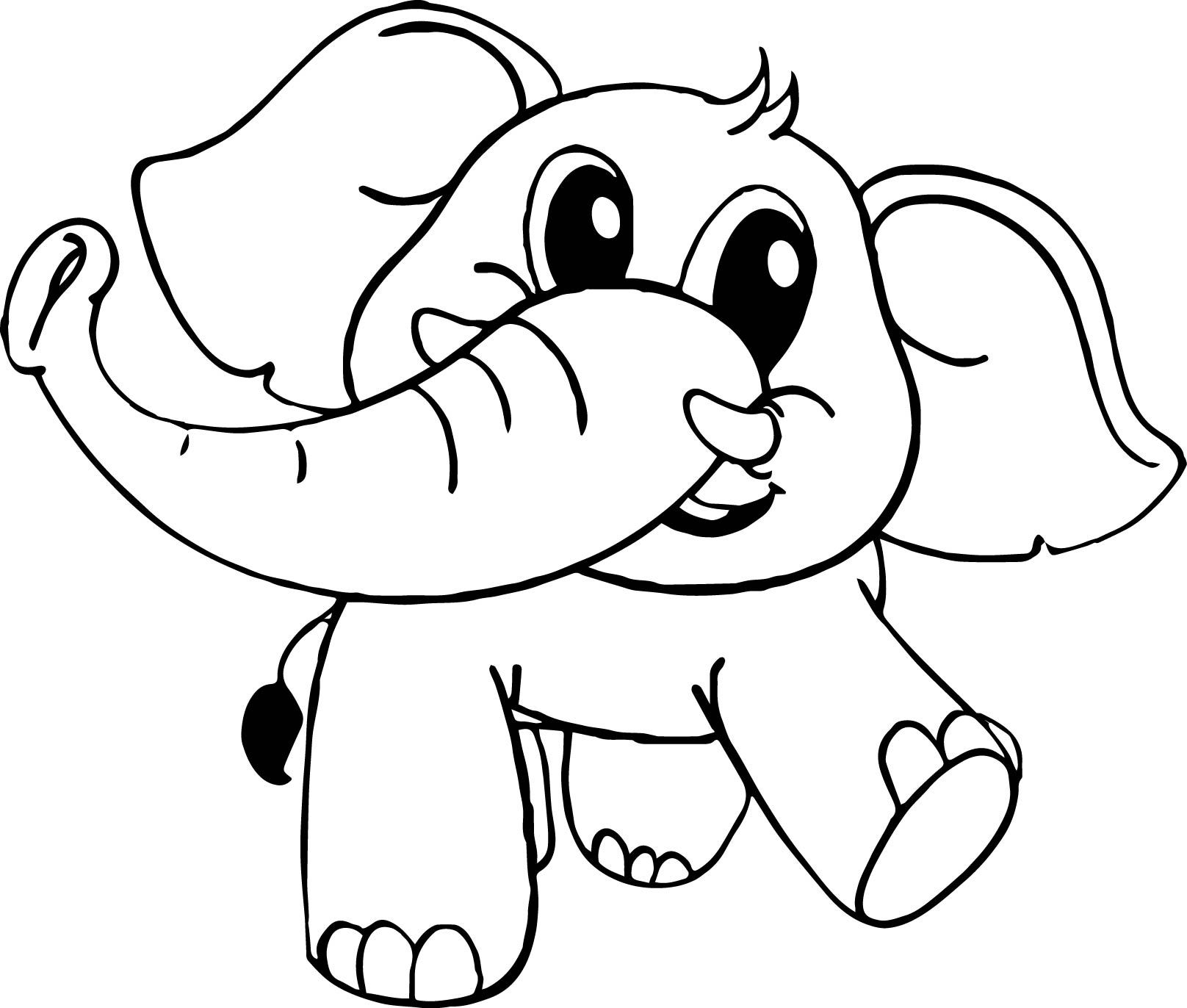 cartoon coloring elephant pages 2020
