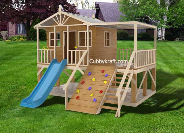 Redwood Lodge Cubby House Outdoor Play Equipment Cubby Houses Play Area Backyard Play Houses