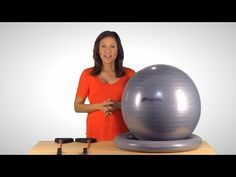 Exercise Ball Over 100 Workouts with Resistance Bands - SoAlpha.com #exerciseball