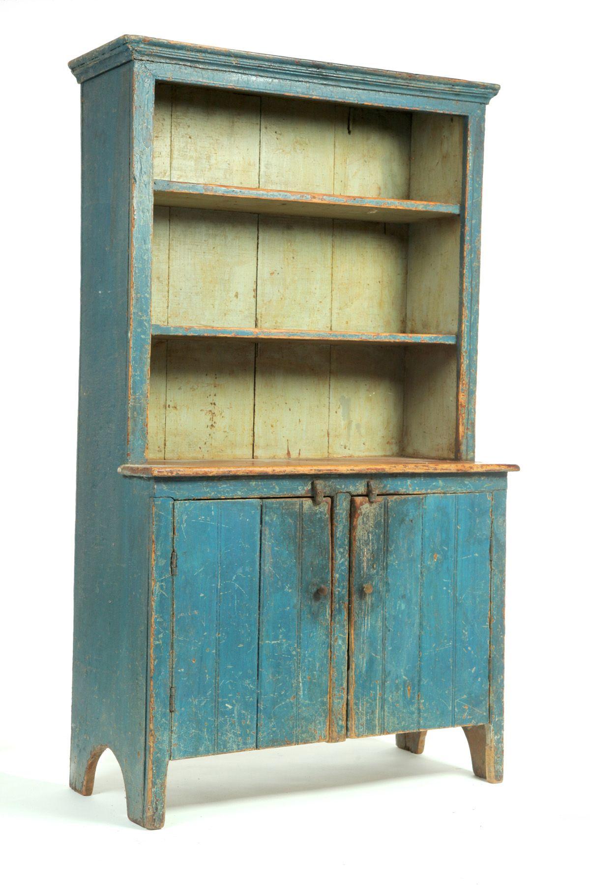 OPEN-TOP CUPBOARD. American, 1st half-19th century, pine. Measures 63.5