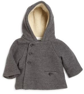 Bonpoint Baby's Faux Shearling-Lined Hooded Crossover Jacket
