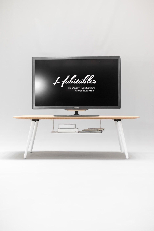 Mid Century, Moderno, tavolo TV, mobile TV fatta del bordo in ...