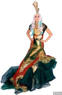 Lady Gaga in an Alexander McQueen dress
