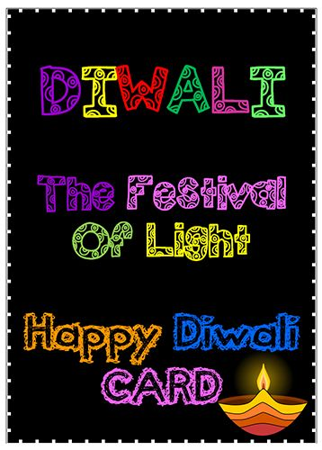 diwali greeting card templates a choice of a colour or black and white card template for students to write a personal happy new year greeting