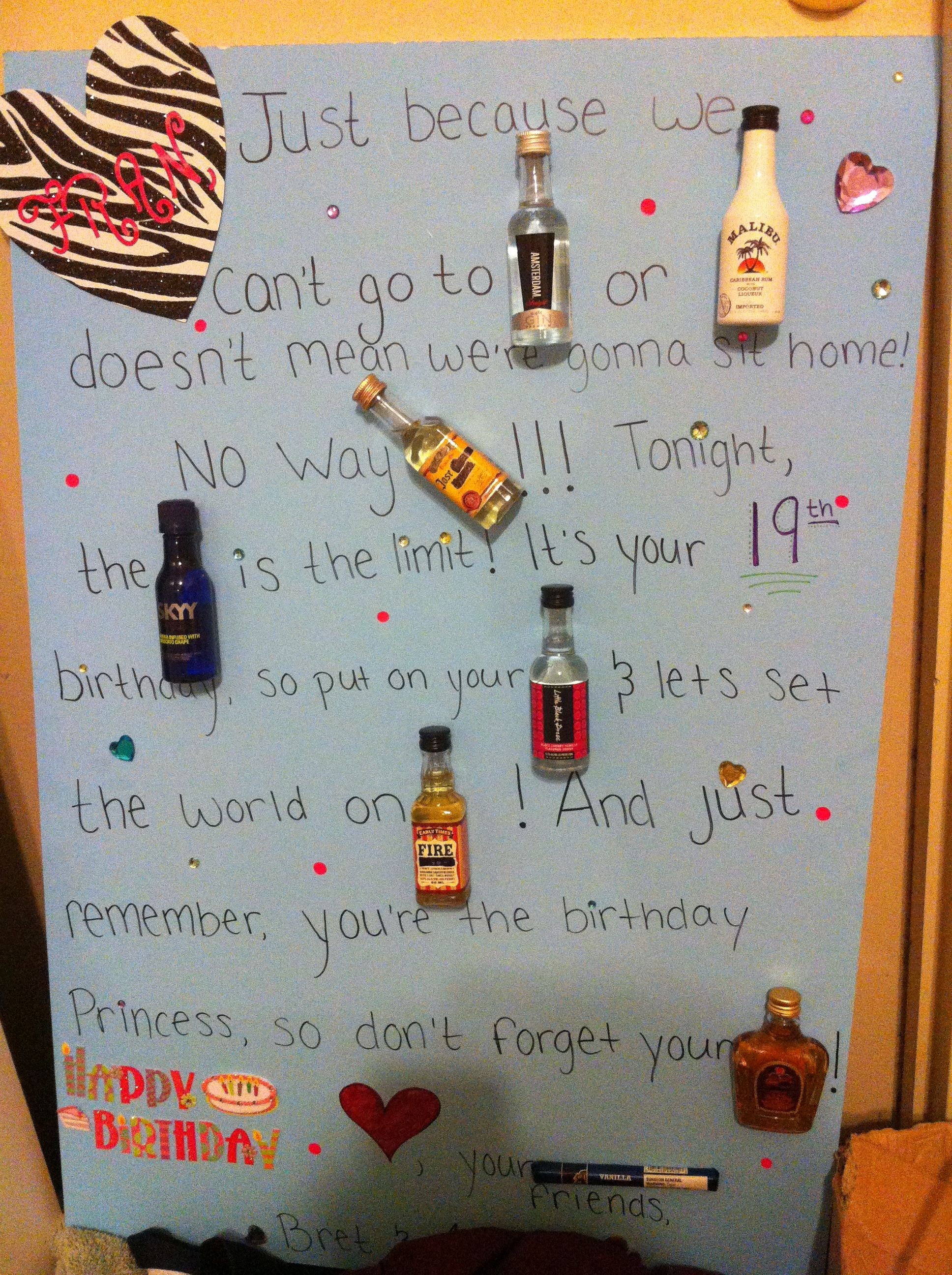 Mad Libs Birthday Card Mini Alcohol Bottles Just Because We Cant Go To NEW AMSTERDAM Doesnt Mean Were Gonna Sit At Home