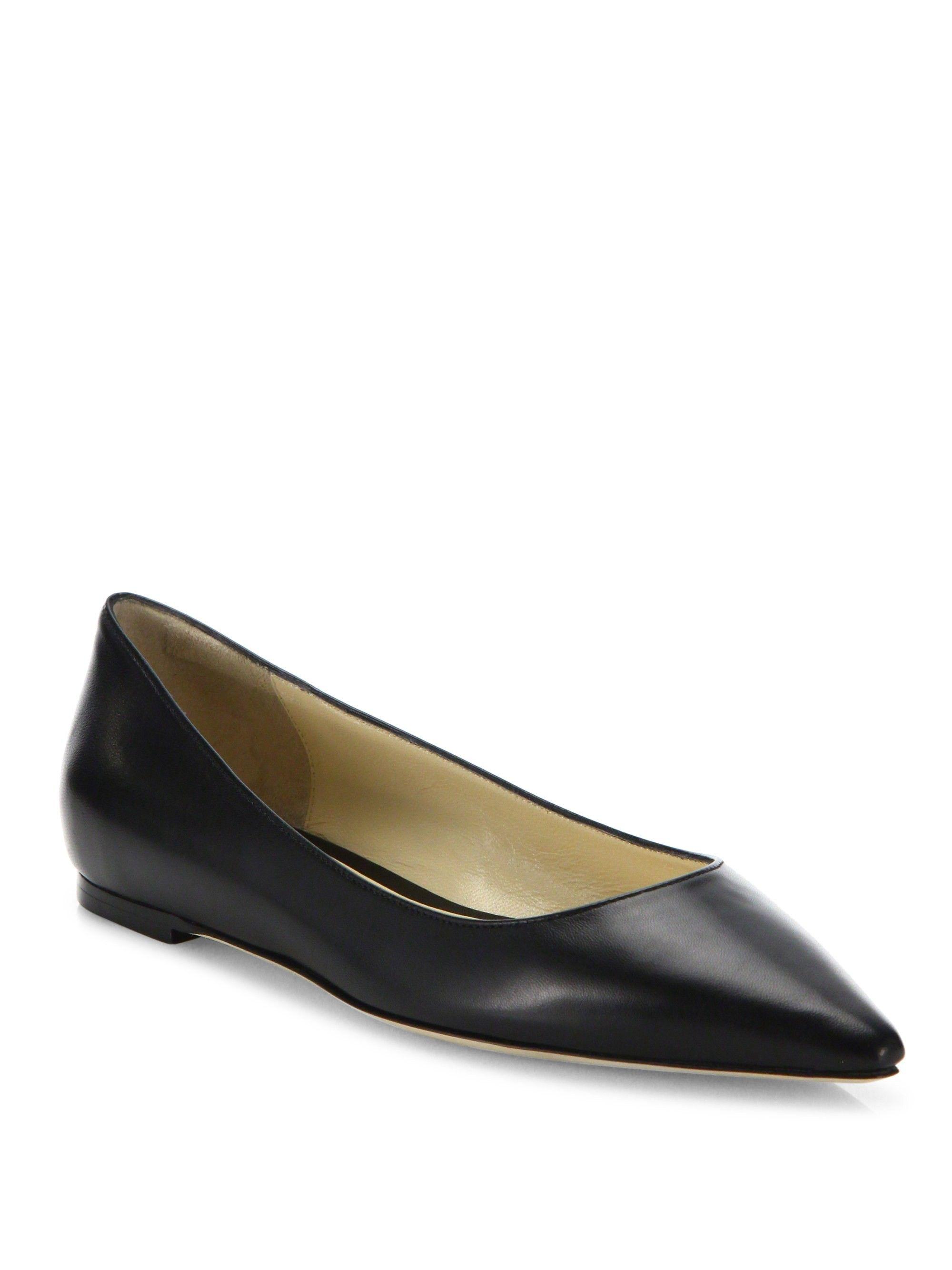 4eda23fa24 Jimmy Choo Romy Leather Point Toe Flats - Black 35 (5) | Products ...