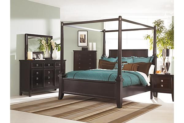 The Martini Suite Poster Bedroom Set From Ashley Furniture HomeStore  (AFHS.com).
