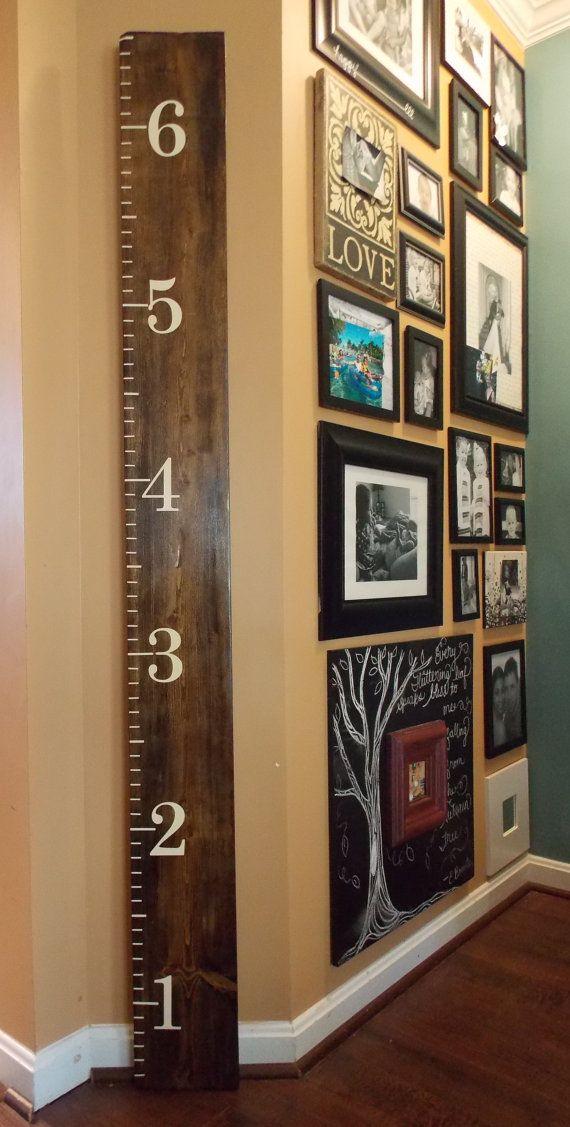 Stained Wood Ruler Growth Chart Childs Play In 2019 Pinterest