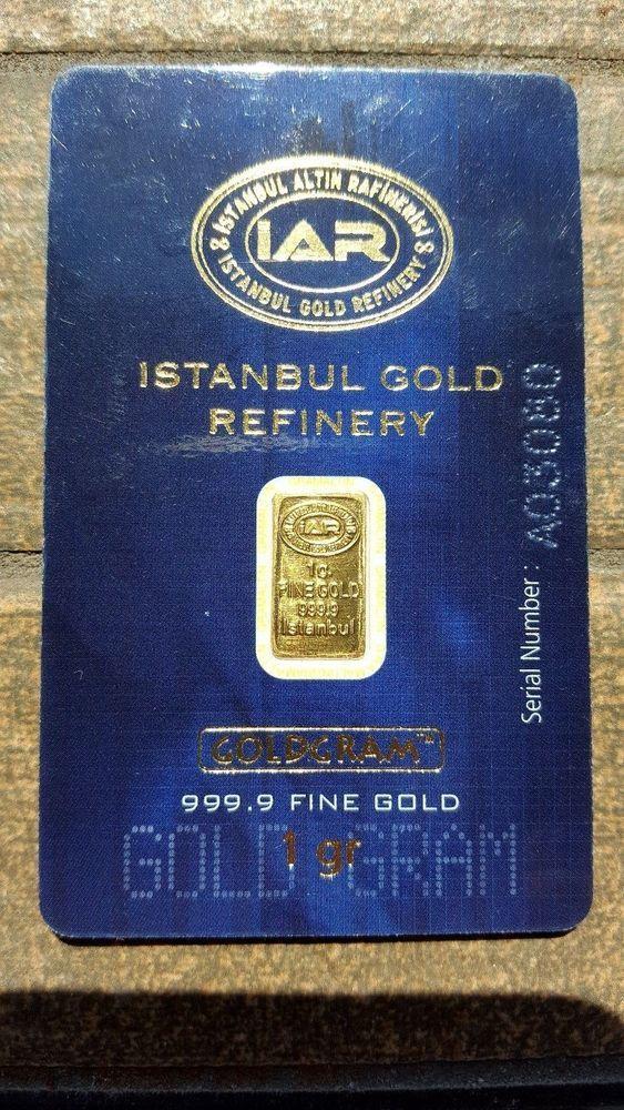 1 Gram Gold Bar Iar Igr Istanbul Altin Rafinerisi 999 9 Fine Gold A03080 Gold Bar Gold Istanbul