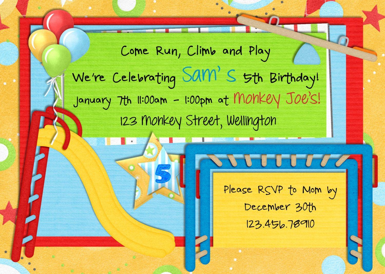 Park Birthday Invitation Playground Picnic Printable and Custom – Park Birthday Invitations