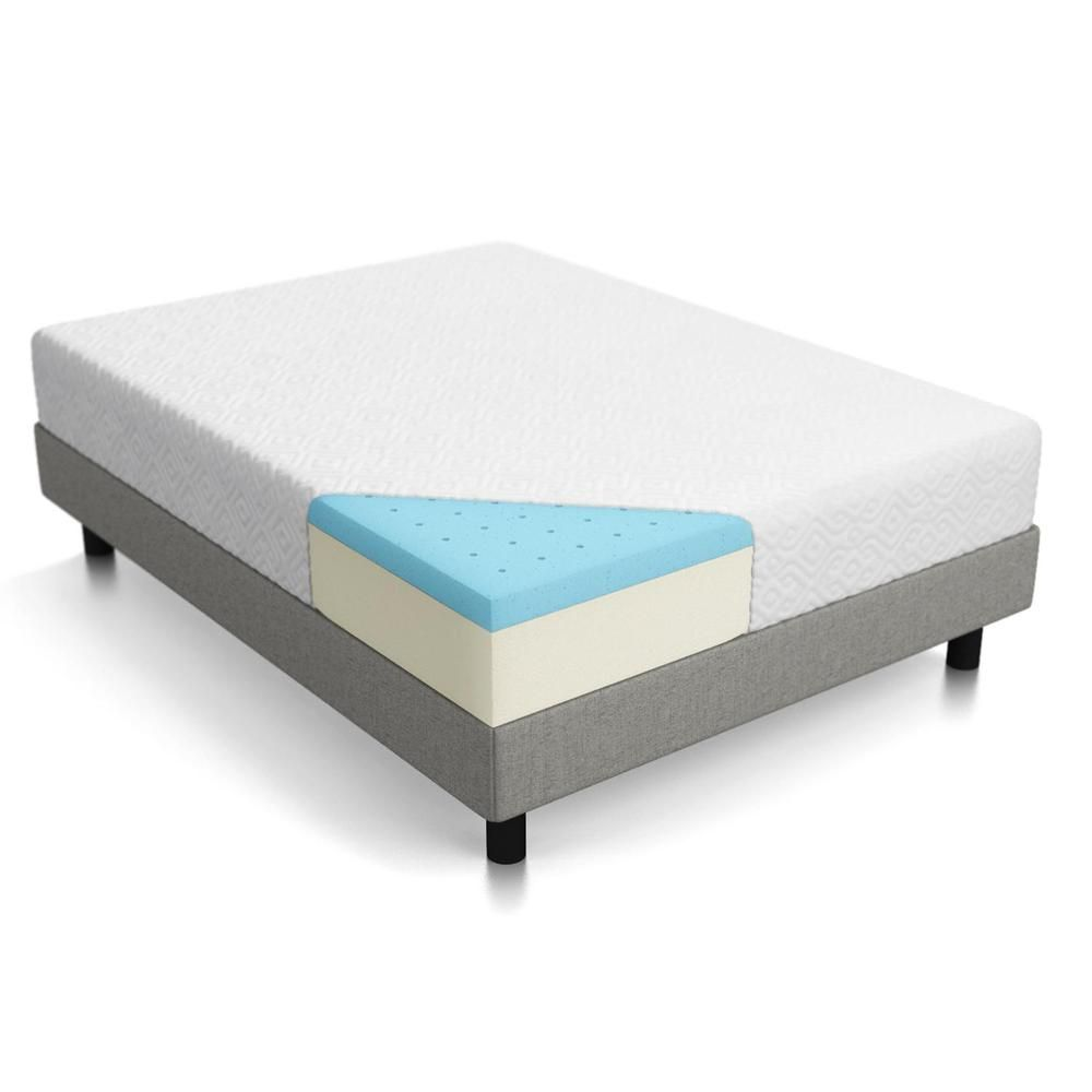 Details About Lucid 10 Inch Gel Memory Foam Mattress Medium Firm