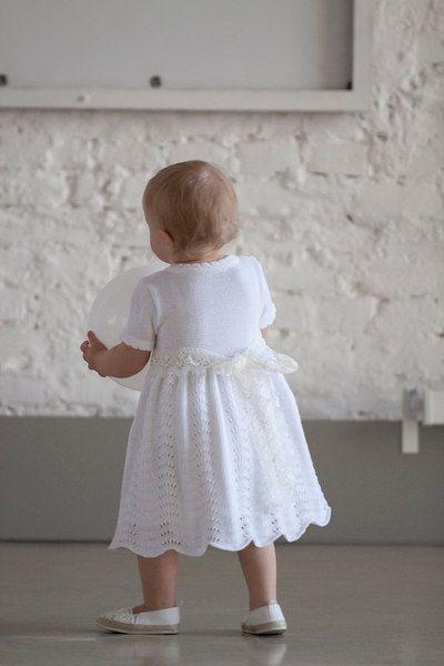Taufkleid ,Blumenmädchen,Hochzeit,Geburtstag | Baby knitting ...