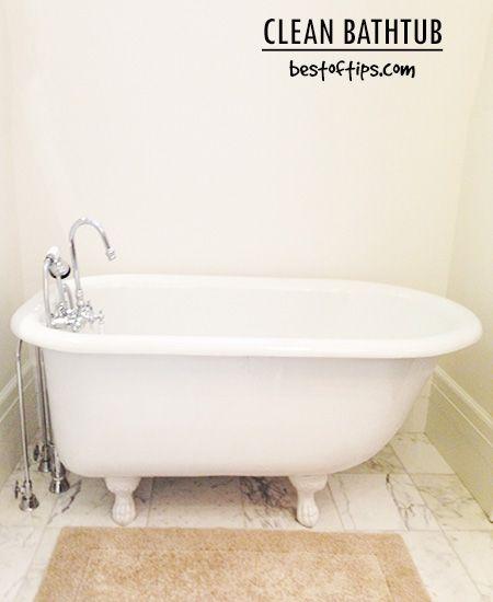 How To Clean Bathtub Easily And Naturally Clean Bathtub Bathtub