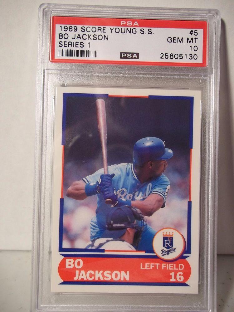 1989 score bo jackson rc psa gem mint 10 baseball card 5