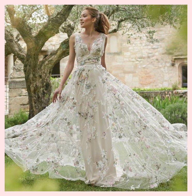 Sammlung La Vie 45e0ca4021235c In 2020 Floral Wedding Dress Colored Wedding Dresses Wedding Dresses Uk