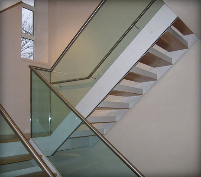 Frognal Way Project   Glass Balustrade   Stainless Steel Handrails